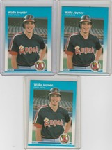1987 Fleer #86 Wally Joyner  Lot of 3 - $1.62