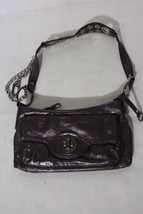 "GUESS Purple ""Studded"" Mini Shoulder Bag W/Silvertone Decor-B32 - $29.99"