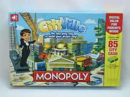 Monopoly Cityville 2012 Board Game Hasbro 100% Complete Excellent Plus C... - $27.28
