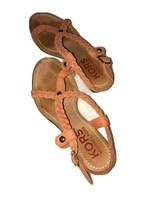 Michael Michael Kors Orange Sandal 7 US sandal Wedge Heels Crossbody Soft Strap - $21.51