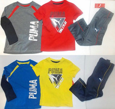 Puma Toddler Boys 3pc Outfits 2 Shirts & Pants 2 Choices Sizes 2T 3T 4T ... - $23.99