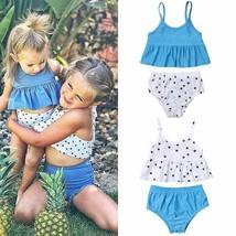 Boho Kids Baby Girl Big Littler Sister Summer Sets Dots Print Swimwear S... - $10.19