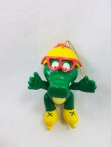 Vintage Gator Tales Christmas Ornament Girl Skates Alligator 25603 Roy R... - $9.64