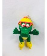 Vintage Gator Tales Christmas Ornament Girl Skates Alligator 25603 Roy R... - $9.64