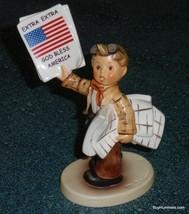 ***1st Issue*** Goebel Hummel Figurine EXTRA! EXTRA! God Bless America #... - $144.77