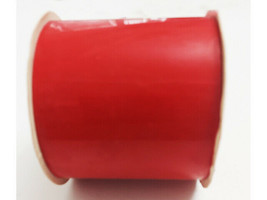 """Cleo Red Wreath Bow Ribbon, Outdoor Waterproof Plastic, 2.75"""" x 8 Feet"""