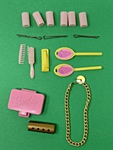 Lot of 17 Vintage Mattel Barbie Hair Styling Salon Curlers BRUSH COMB Ma... - $28.45
