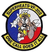 Us Navy VF-202 Fighter Squadron With Cowboy Tomcat Patch Superheats - $11.87