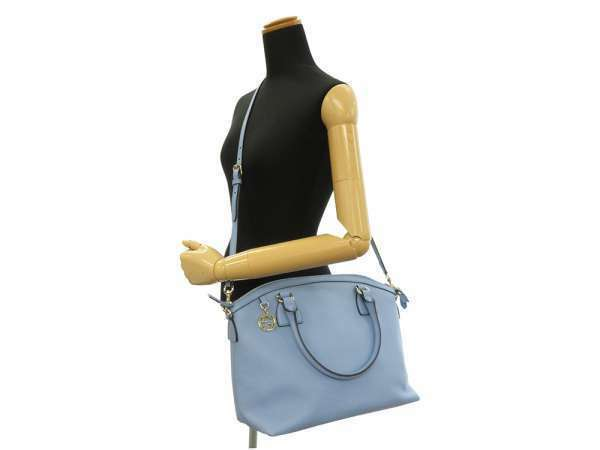 GUCCI Shoulder Bag Leather Light Blue 449651 2Way Tote Bag Italy Authentic