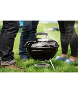 Portable Charcoal Grill with Cooking Grate Black Outdoor Picnic Camping ... - $38.99