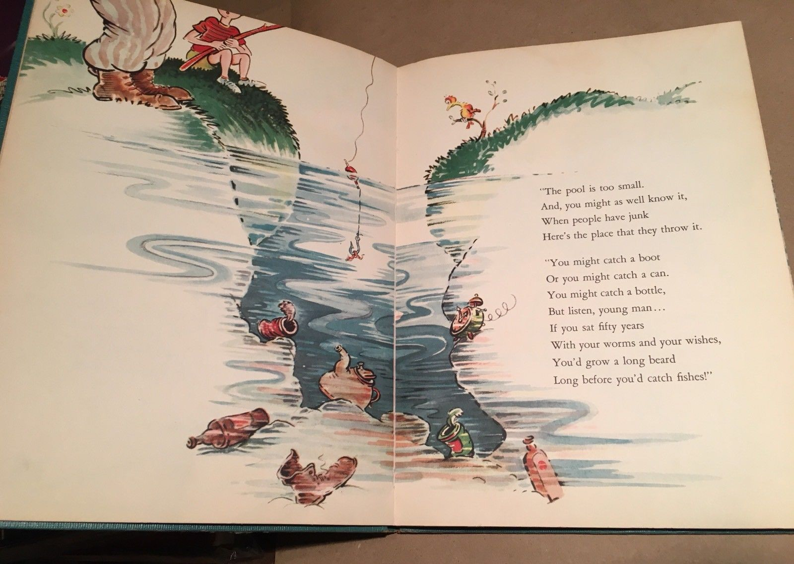 """McElligot's Pool """"Dr"""" Seuss 1947. Rare First Edition variant W/7 line Copyright."""