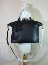 NWT Tory Burch Black Pebbled Leather Thea Slouchy Satchel - $443.50
