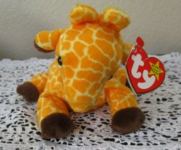 Ty Beanie Baby Twigs The Giraffe 4th Generation W/ 3rd Generation Tush T... - $9.89