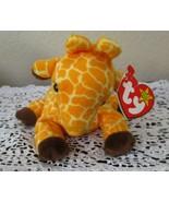 Ty Beanie Baby Twigs The Giraffe 4th Generation W/ 3rd Generation Tush T... - $9.89