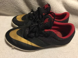 Used/Worn Nike Youth size 6Y Athletic shoes black red - $24.74