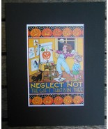 """Mary Engelbreit Print Matted 8 x 10"""" """"Neglect Not the Gift"""" Artist Hallo... - $16.40"""