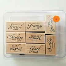 Stampin Up Sincere Salutations Stamp Set EUC 8 Stamps - $11.26