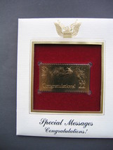 1987 SPECIAL MESSAGES 22kt Gold Golden Replica Congratulations Cover FDC... - $5.19
