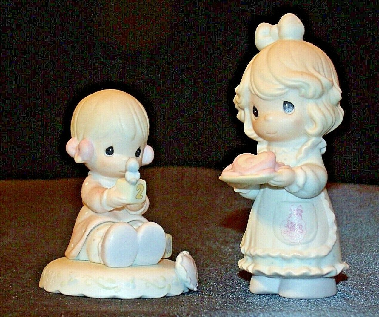 Precious Figurines Moments 2 Pieces AA-191819 Vintage Collectible
