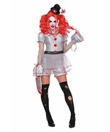 Dreamgirl Wicked Clown IT Pennywise Sexy Adult Womens Halloween Costume ... - £39.88 GBP