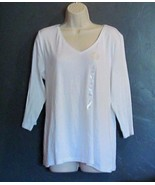 Charter Club New Casual V Neck Top Size 0X - $15.77