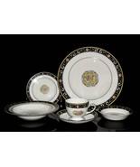 Wedgwood Bone China Dinnerware, Runnymede - Blue, 6 pc. Place Setting, W... - $187.50
