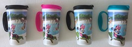 Set of 4 Disney Parks Whirley Refillable Pink Teal Black Insulated Travel Cups - $39.99