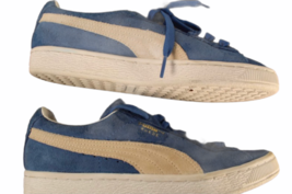 Women Blue Suede Puma Size 7.5 Shoe Sneaker Athletic Casual Low Top image 2