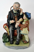 "9"" Vintage Capodimonte Porcelain Old Doctor With Baby Girl Patient Doll ... - $189.99"