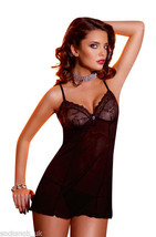 Ladies Womens Sexy Lingerie Short Lace Slip Chemise Baby Doll Night Dres... - $10.63