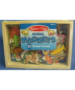 Toys Melissa and Doug New 20 piece Wooden Animal Magnets - $14.95