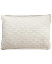 New Hotel Collection Woven Texture Quilted Ivory Standard Pillow Sham - $78.39