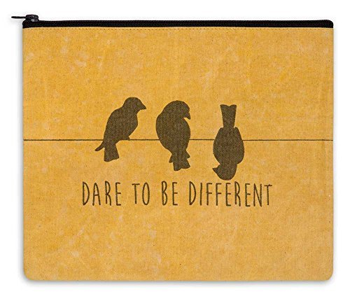 "Large Makeup Bag 11""x9"" Dare to Be Different Birds"
