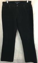 Ralph Lauren Sport Womens Black Corduroy Pants Size 10 Straight Leg  - $24.70