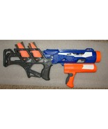 Used Nerf Thunderblast Rocket Blaster with 3 rockets discontinued by hasbro - $9.89