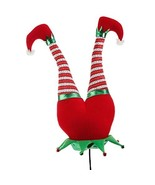 Red Plush Elf Butt Pick Accent Christmas Tree Ornament Decor, 21 Inch x ... - $26.59