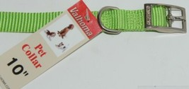 Valhoma 720 10 LG Dog Collar Lime Green Single Layer Nylon 10 inches Package 1 image 2