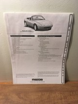 1996 Mazda MX-5 Miata Features Brochure - $7.91