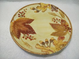 "Fitz and Floyd Classics Harvest Sculptured Canape Plate 9 1/2"" Leaves Ac... - $465,37 MXN"
