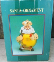Golfer Santa World Showcase Christmas Ornament - $12.99