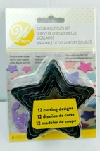 Wilton Double Cut Out Star Set, 6 Pieces Cookie/Fondant Cutters Design ... - $7.91