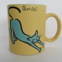 "Max & Lucy For Silvestri ""Thanks For Making Me Stretch"" Paraglazed Cat N... - $11.99"