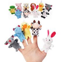 10Pcs/lot Cute Cartoon Animal Finger Puppet Plush Toys Child Baby Favor ... - $6.65