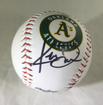 KHRIS DAVIS / OAKLAND ATHLETICS / AUTOGRAPHED A'S LOGO OML BASEBALL / WITH COA image 1