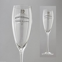 First Anniversary Toasting Glass Insignia Brand in Gift Box Forever and Always