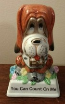 """Vintage Russ Berrie #825 St. Bernard  Ceramic Figurine """" You Can Count On Me."""" - $7.84"""