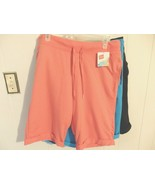 Wome M L 12 14 16 Shorts Pull On Stretch Waist Solid Active Sports Leisu... - $9.90