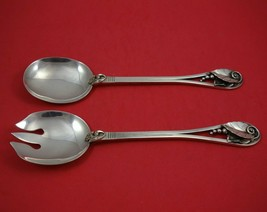 Ornamental #113 by La Paglia Sterling Silver Salad Serving Set 2pc Orig ... - $949.41