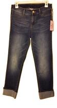 Neuf avec Étiquettes Juicy Couture Rouleau Manchette Jeans Moulant - Délavé - $38.47
