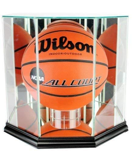 Basketball Display Case with Glass Top and Octagon Black Base